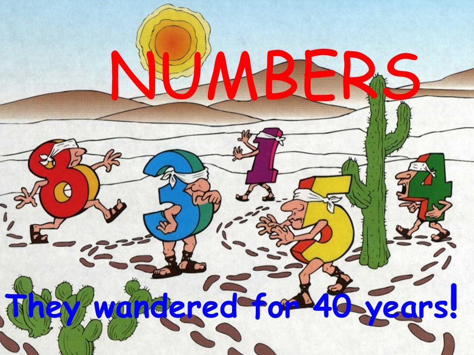 NUMBERS They wandered for 40 years!