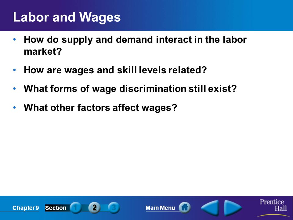 Labor and Wages How do supply and demand interact in the labor market