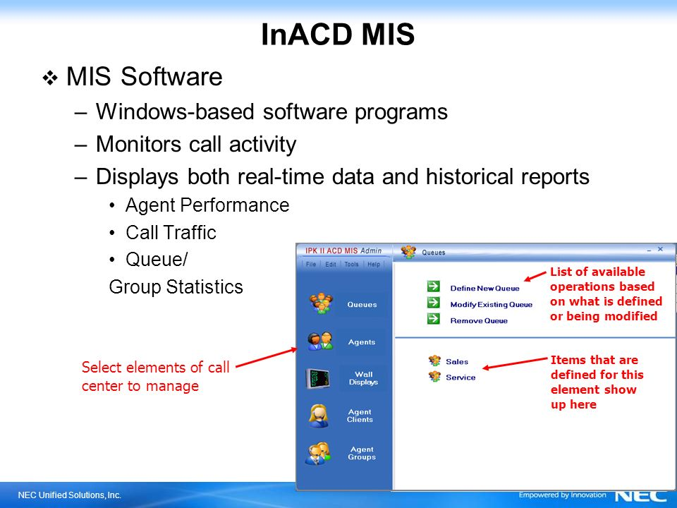InACD MIS MIS Software Windows-based software programs