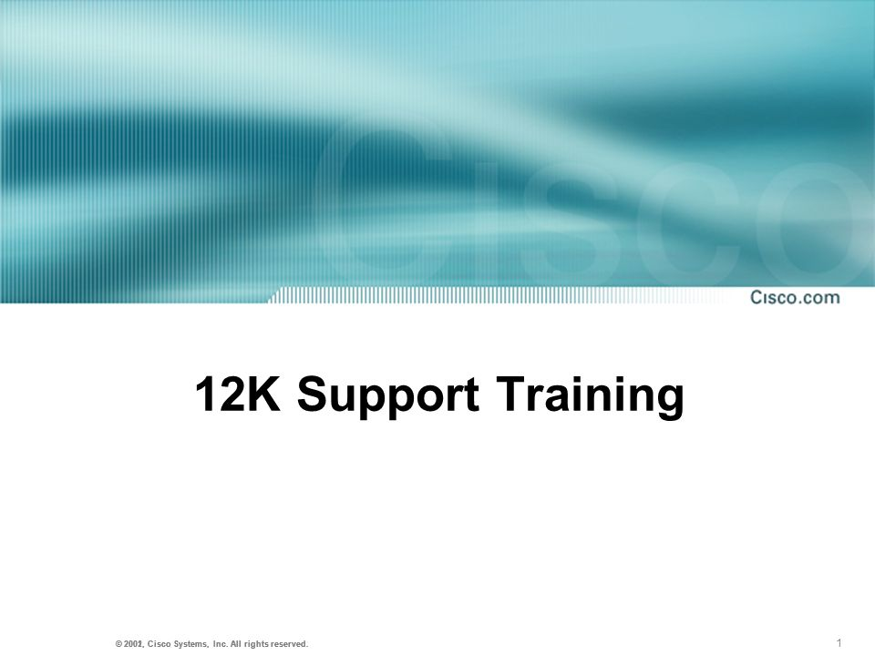 12K Support Training