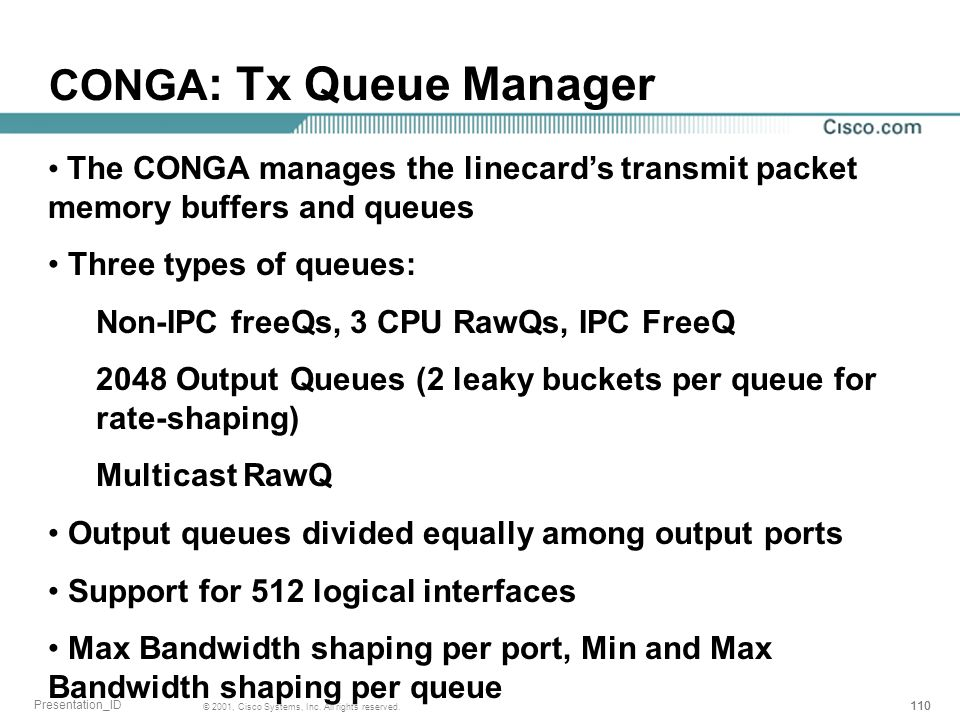CONGA: Tx Queue Manager