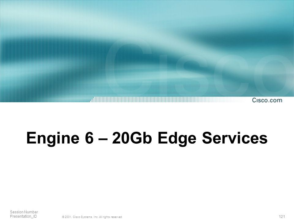 Engine 6 – 20Gb Edge Services