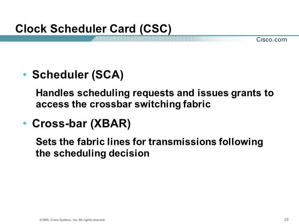 Clock Scheduler Card (CSC)
