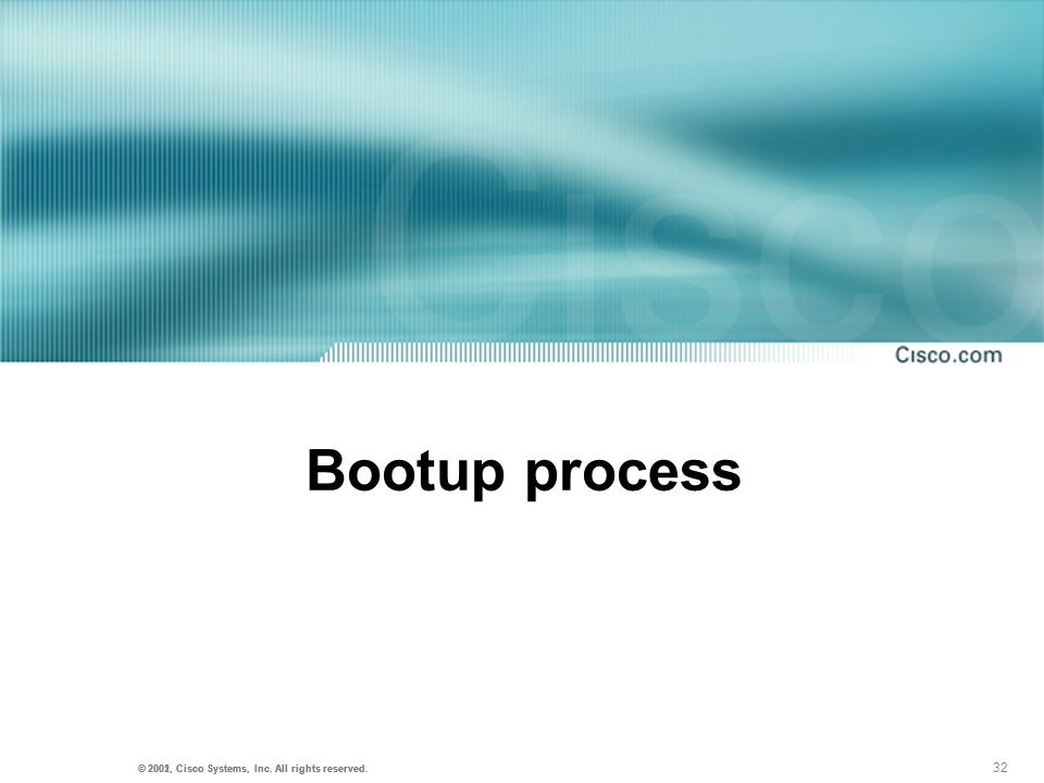 Bootup process