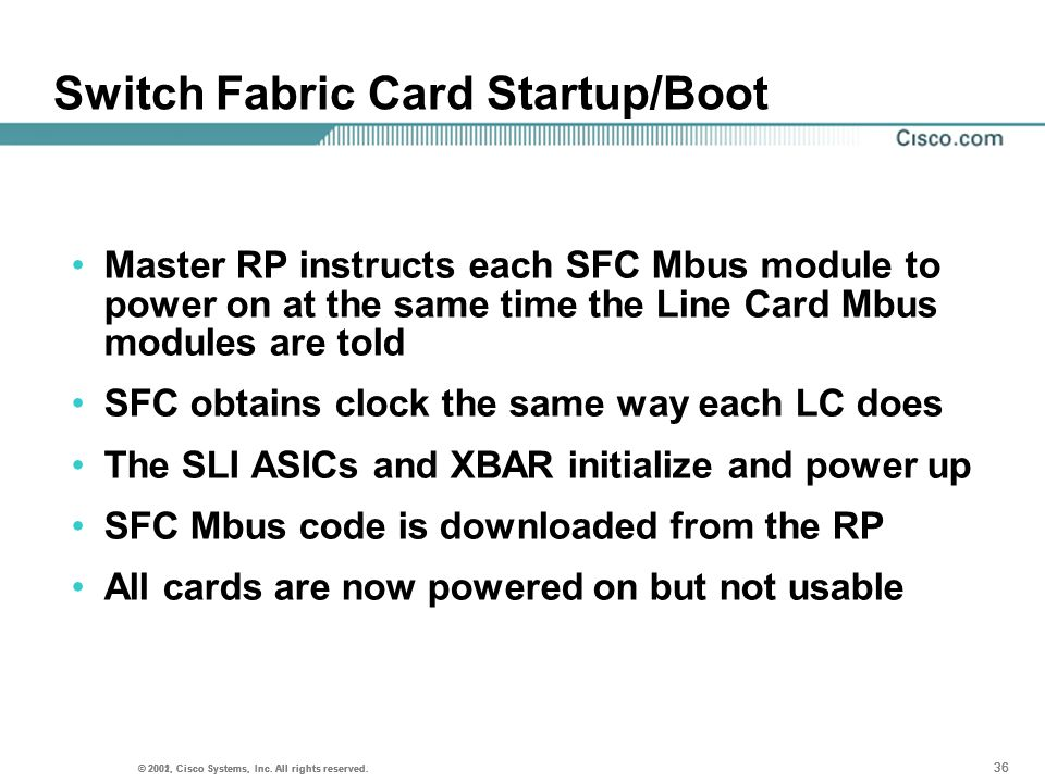 Switch Fabric Card Startup/Boot