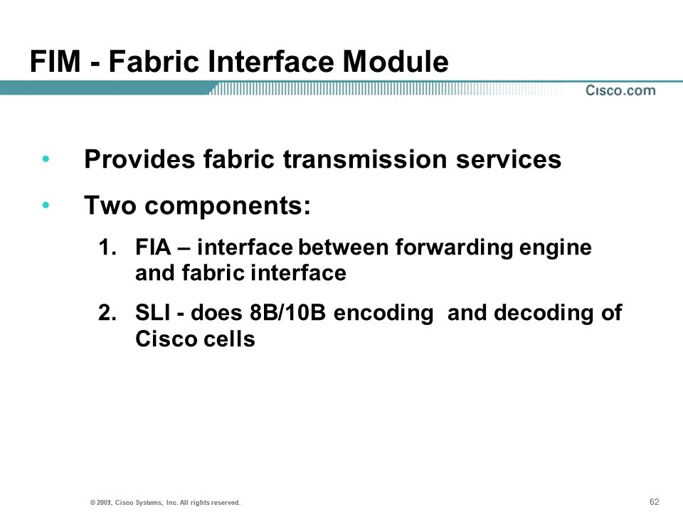 FIM - Fabric Interface Module