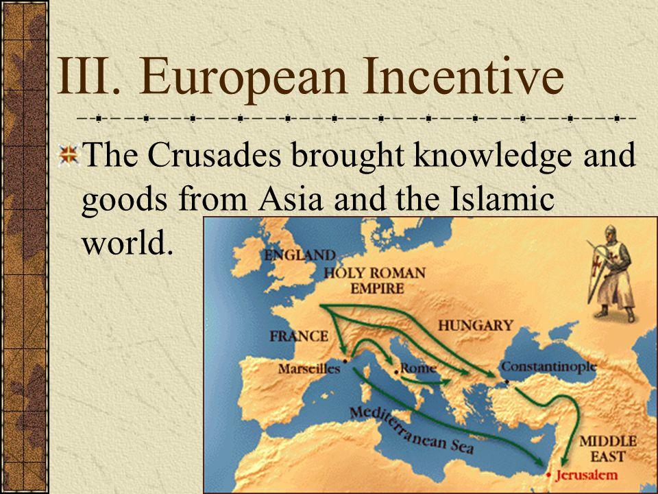 III. European Incentive