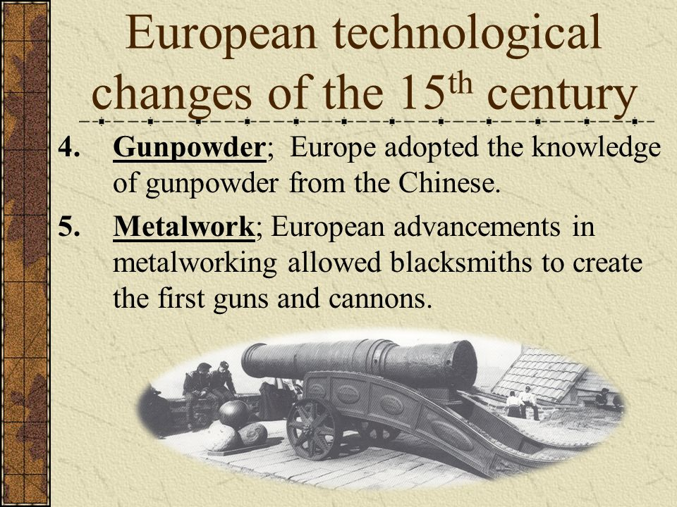 European technological changes of the 15th century
