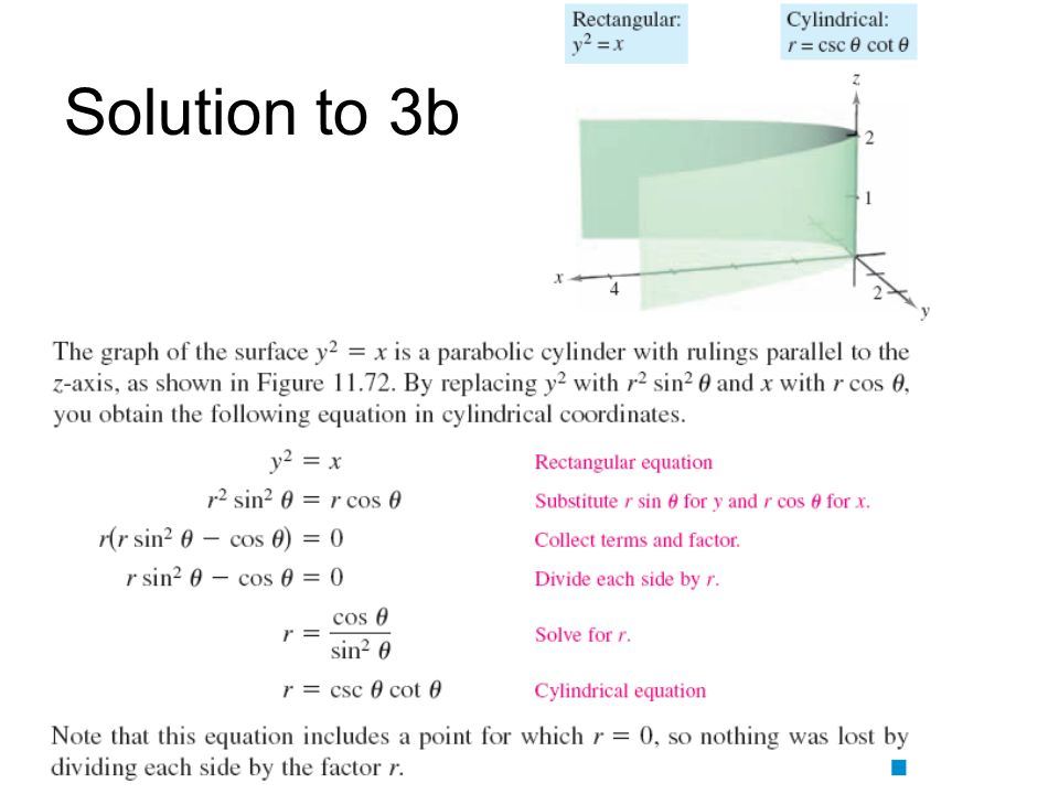 Solution to 3b