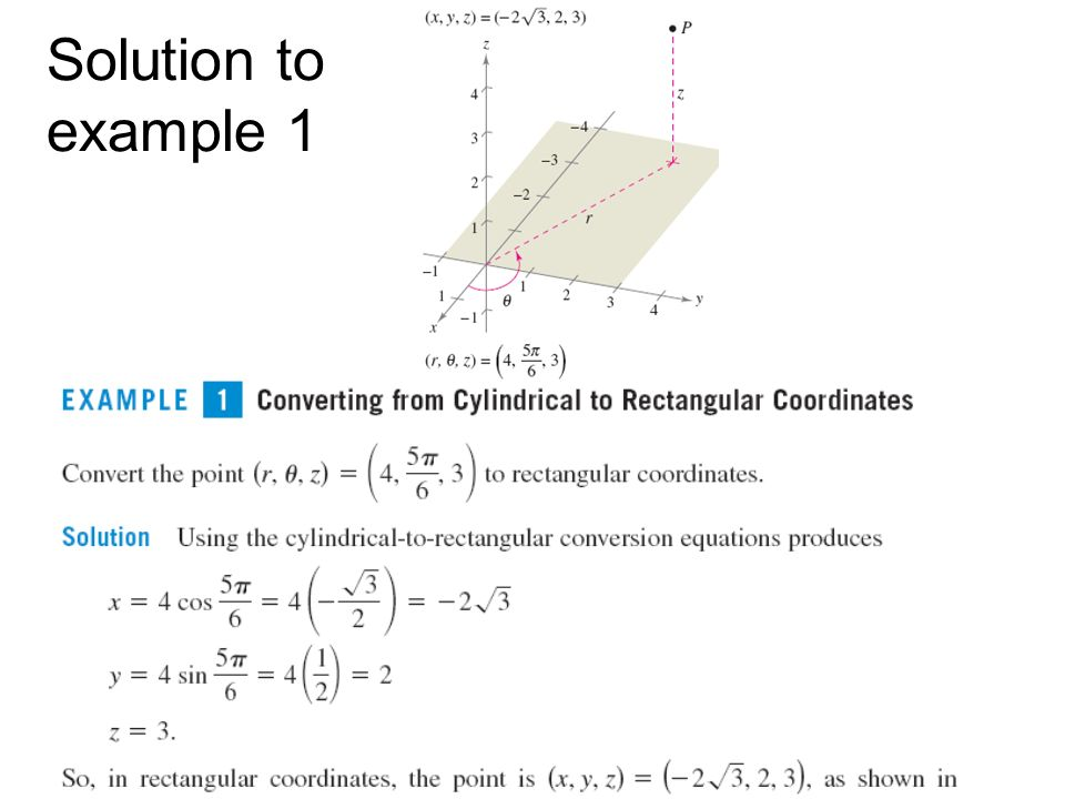 Solution to example 1