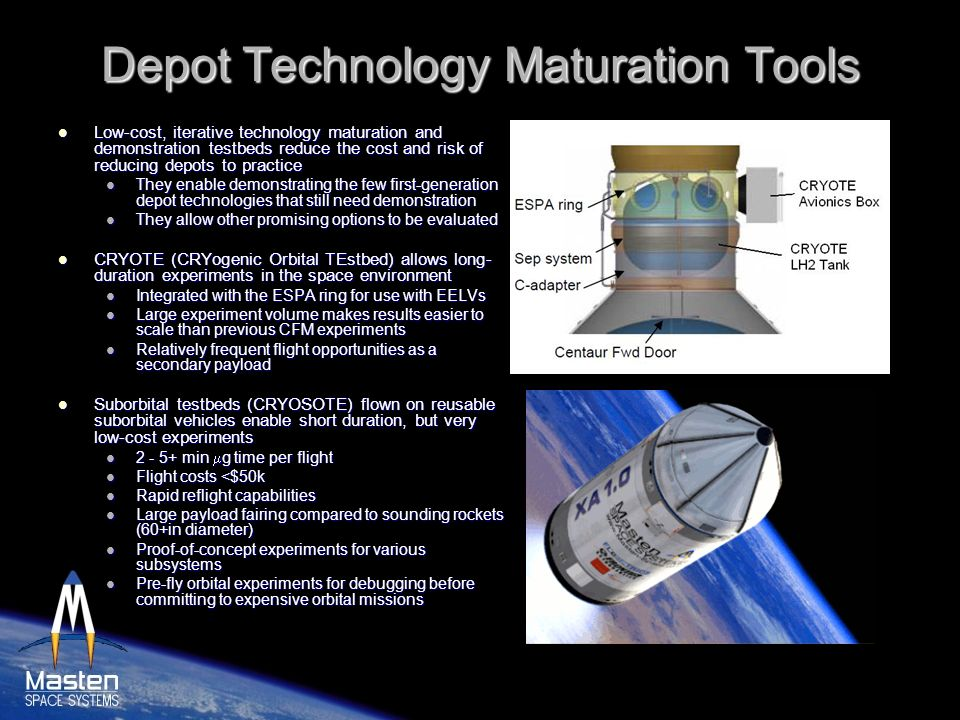 Depot Technology Maturation Tools