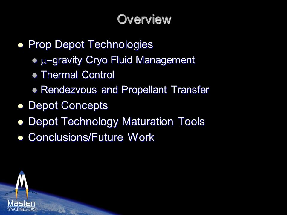 Overview Prop Depot Technologies Depot Concepts