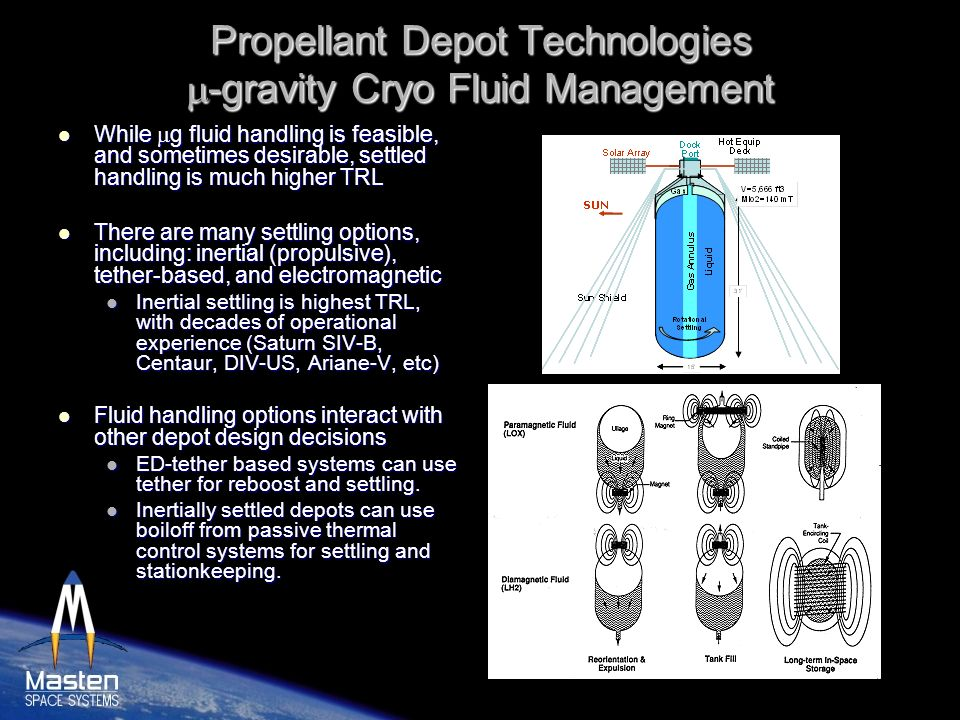 Propellant Depot Technologies m-gravity Cryo Fluid Management
