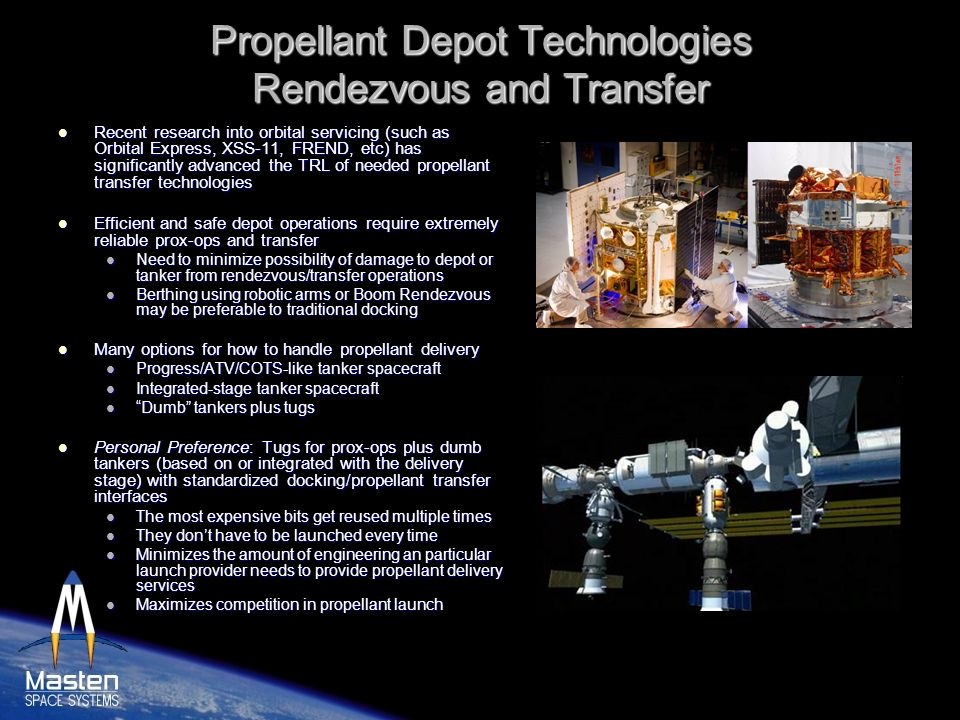 Propellant Depot Technologies Rendezvous and Transfer