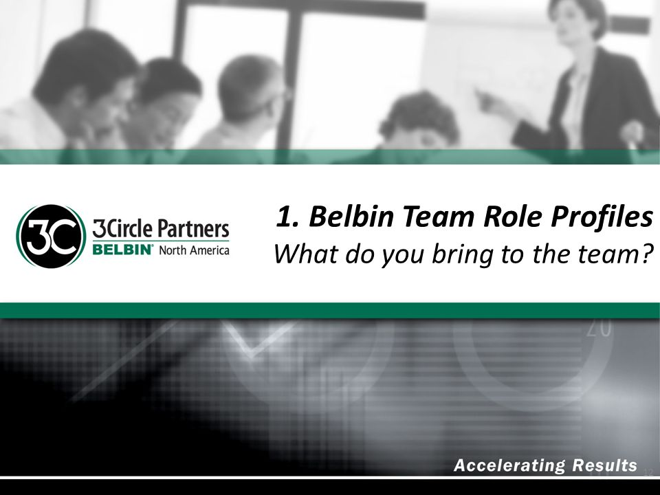 1. Belbin Team Role Profiles What do you bring to the team