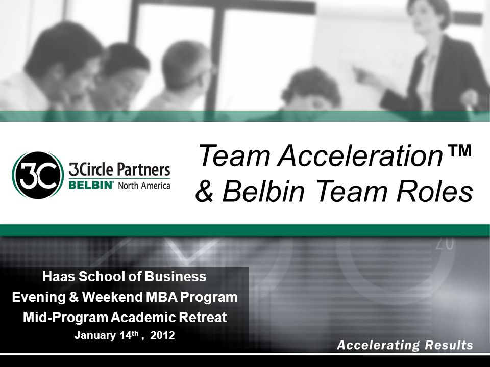 Team Acceleration™ & Belbin Team Roles