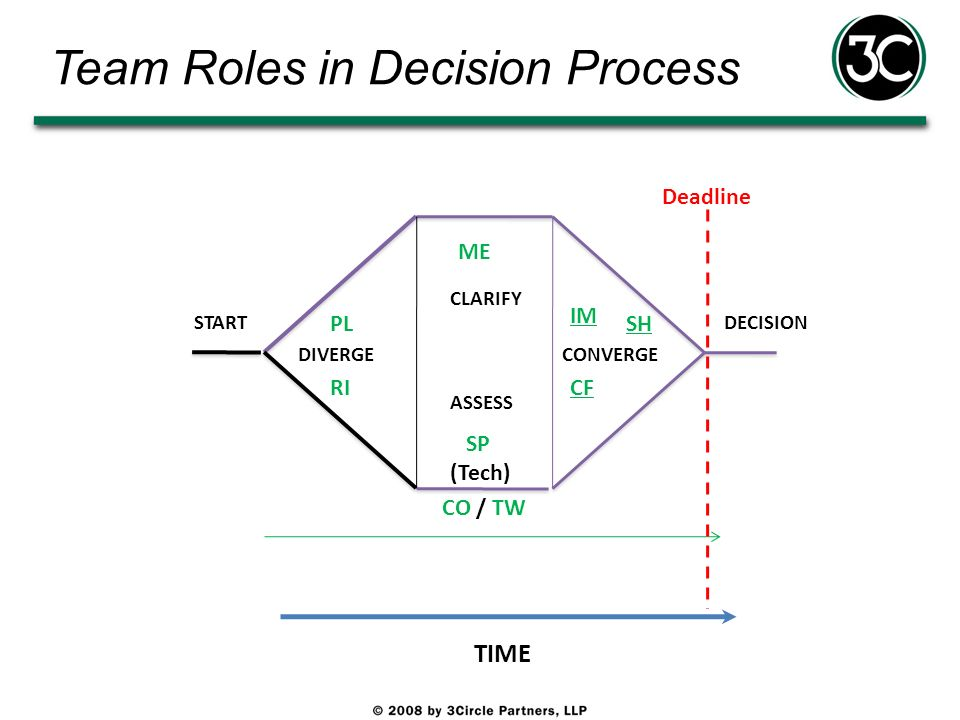Team Roles in Decision Process