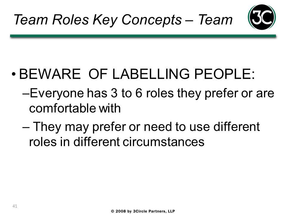 Team Roles Key Concepts – Team