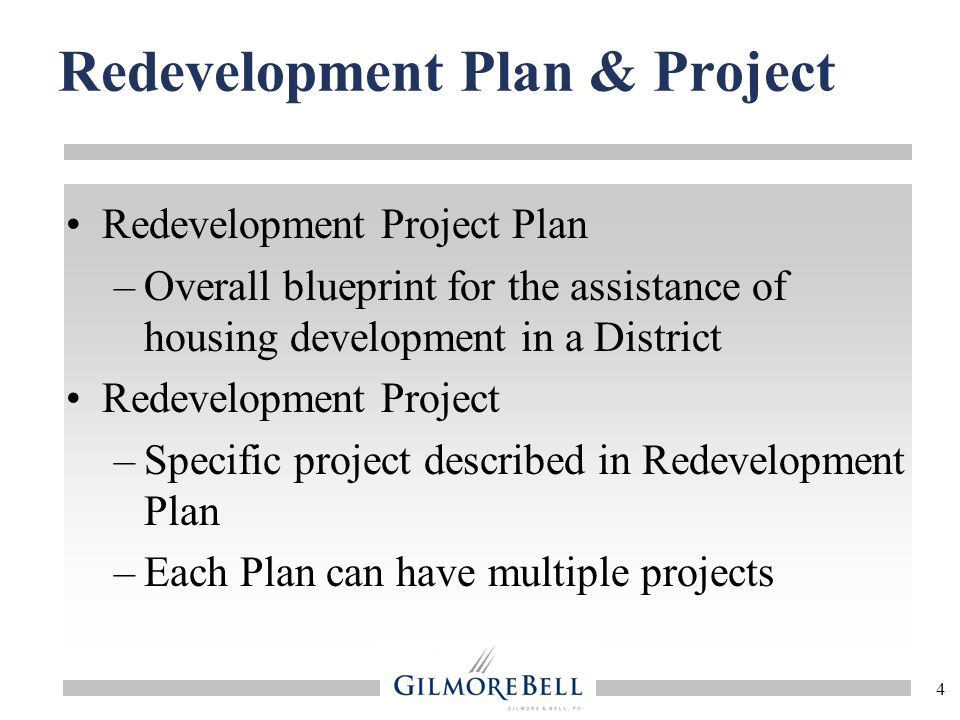 Redevelopment Plan & Project