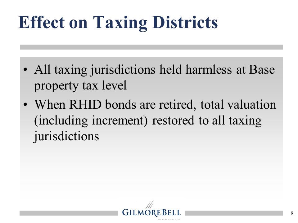 Effect on Taxing Districts
