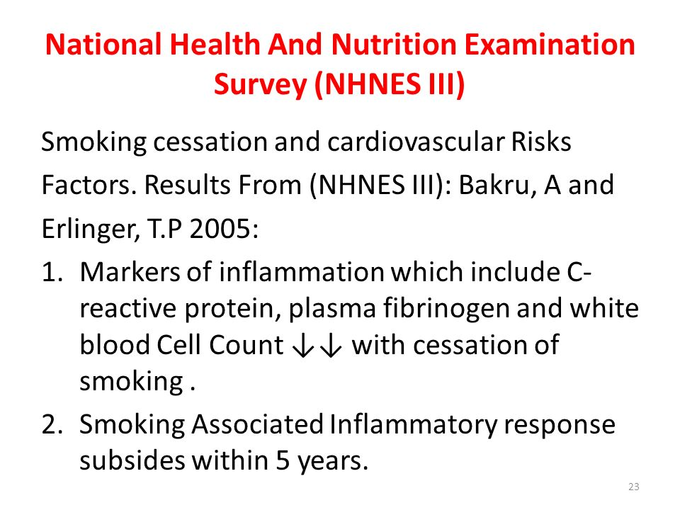 National Health And Nutrition Examination Survey (NHNES III)