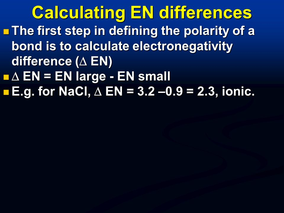 Calculating EN differences