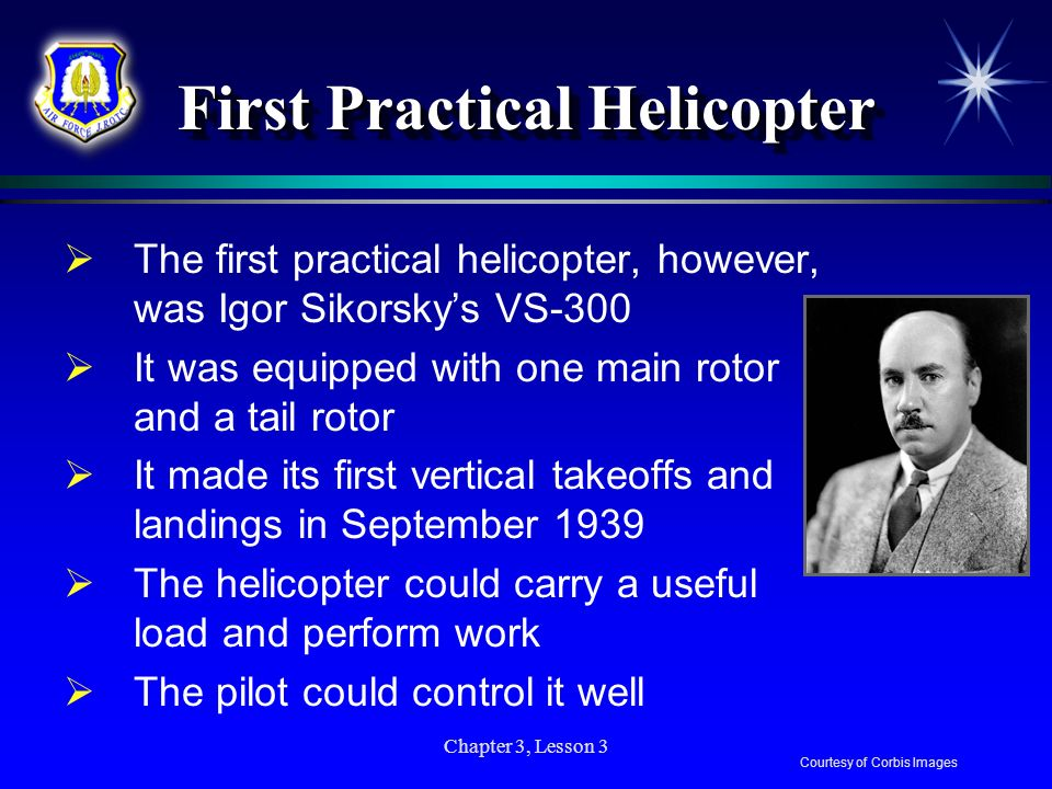 First Practical Helicopter