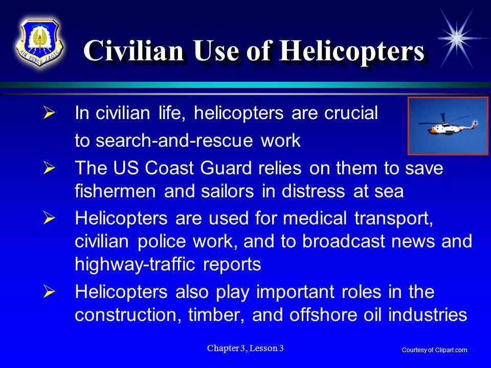 Civilian Use of Helicopters