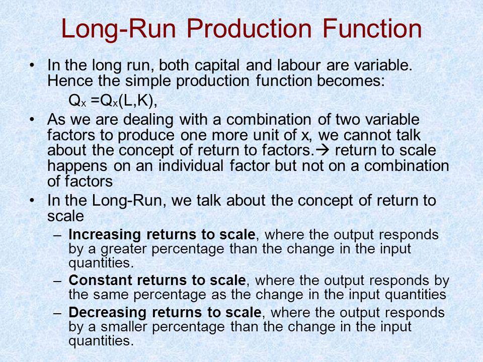 Long-Run Production Function