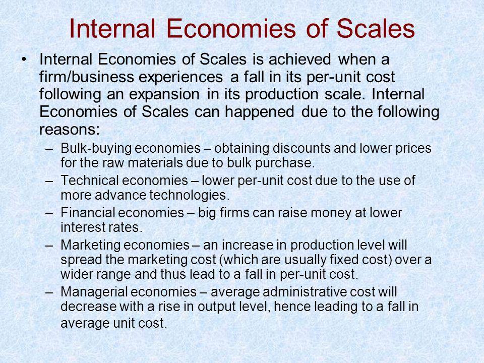 Internal Economies of Scales