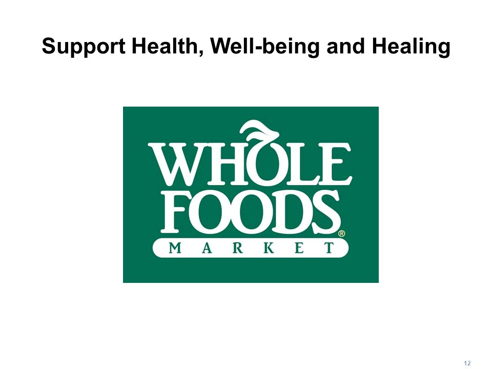 Support Health, Well-being and Healing