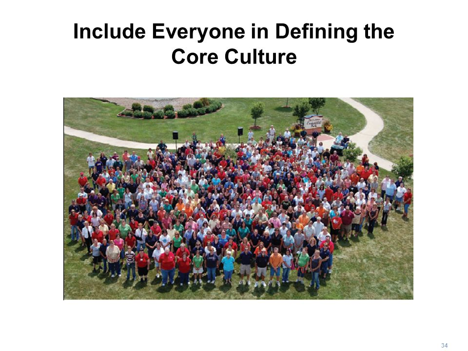 Include Everyone in Defining the Core Culture
