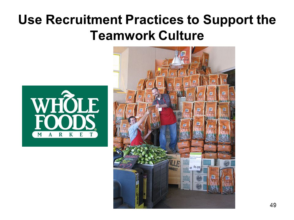 Use Recruitment Practices to Support the Teamwork Culture