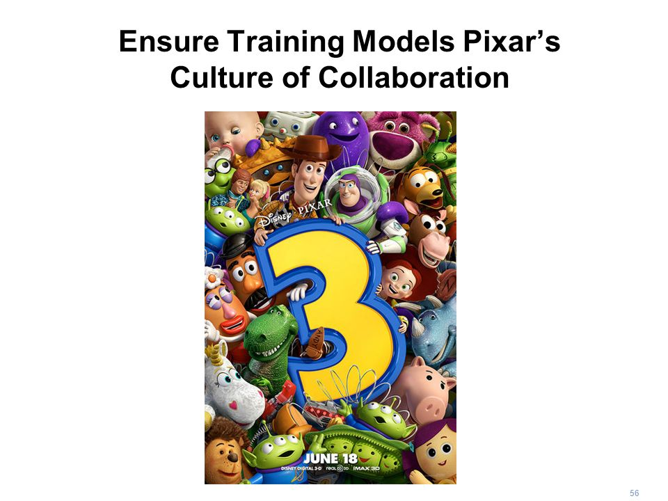 Ensure Training Models Pixar's Culture of Collaboration