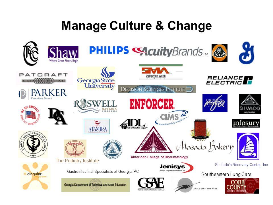 Manage Culture & Change