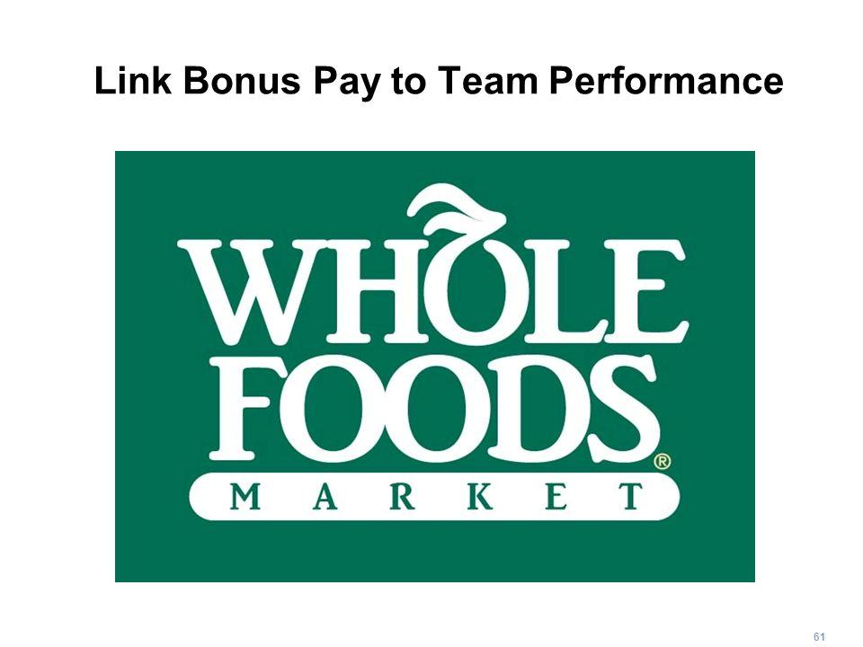 Link Bonus Pay to Team Performance
