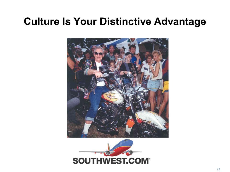 Culture Is Your Distinctive Advantage