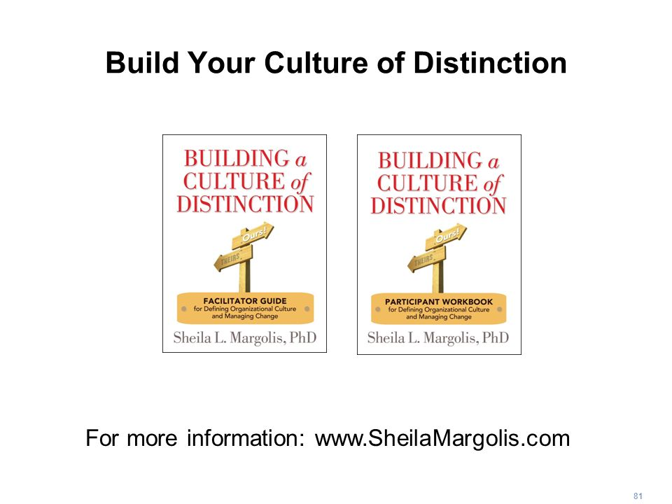 Build Your Culture of Distinction