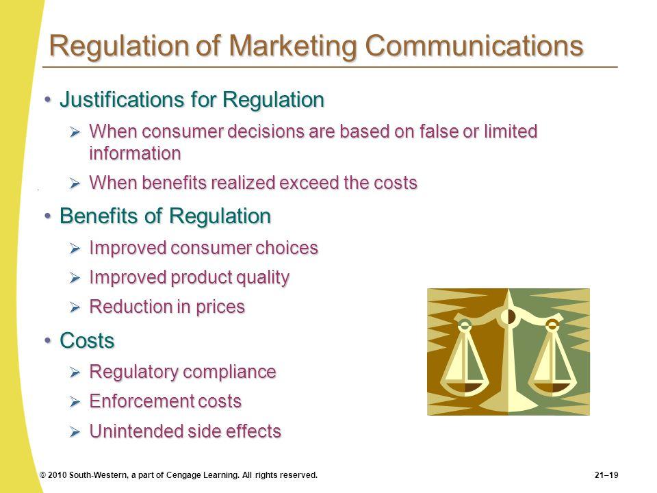 Regulation of Marketing Communications