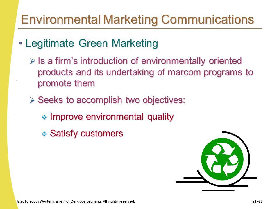 Environmental Marketing Communications