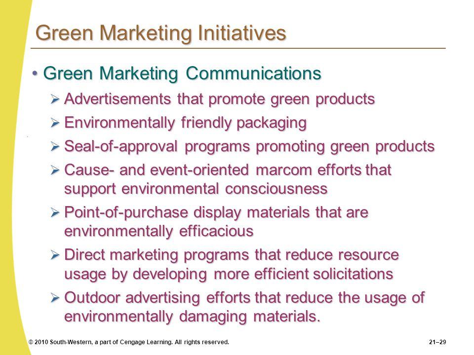 Green Marketing Initiatives