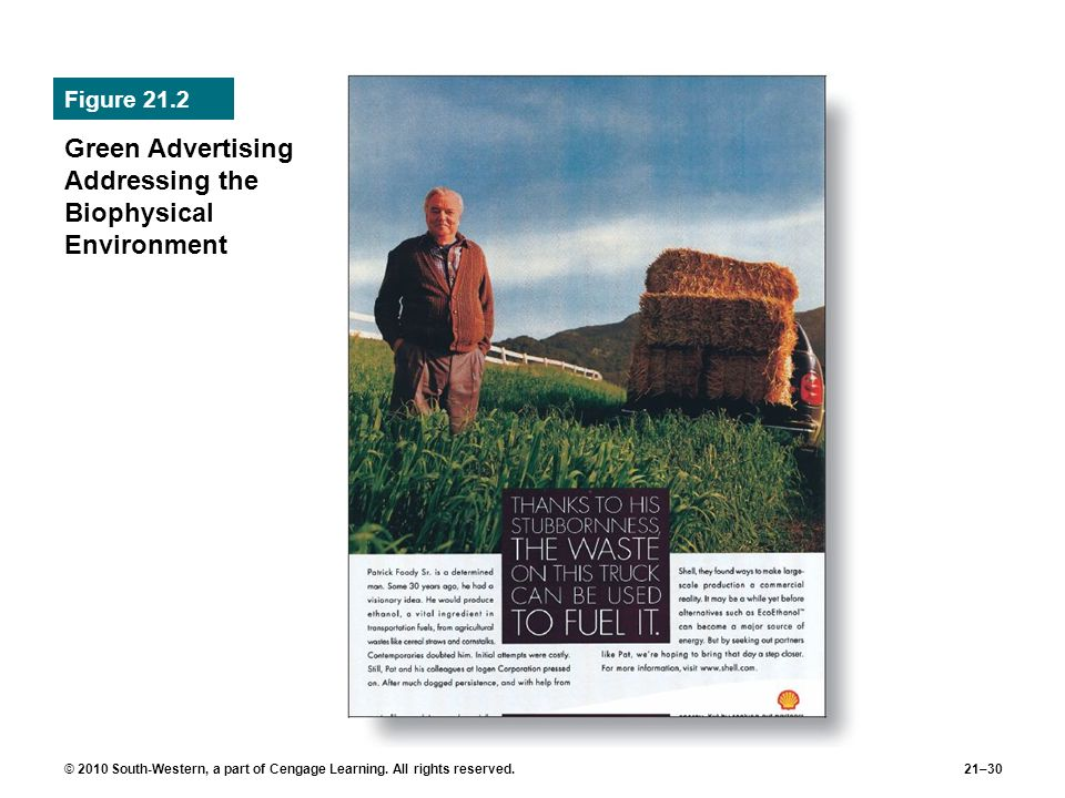 Green Advertising Addressing the Biophysical Environment