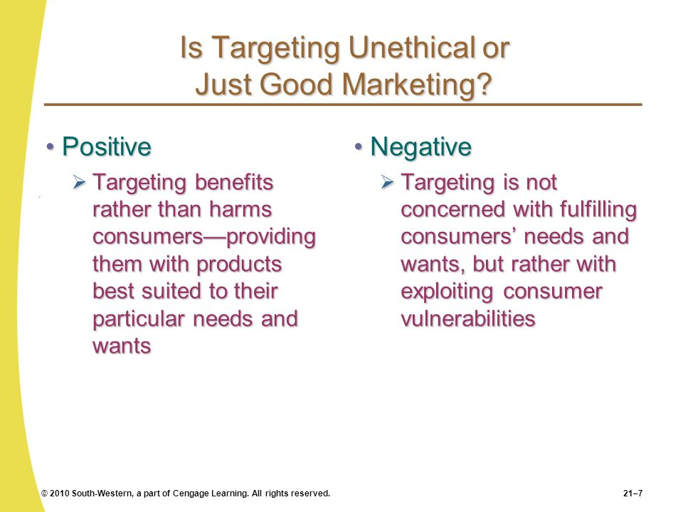 Is Targeting Unethical or Just Good Marketing