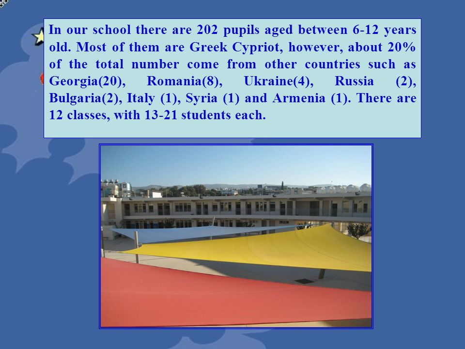 In our school there are 202 pupils aged between 6-12 years old