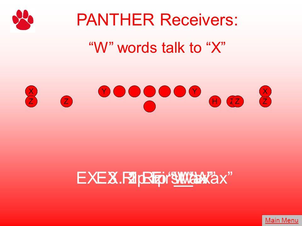 PANTHER Receivers: EX. 3 Rip First Wax EX. 2 Liz Wax