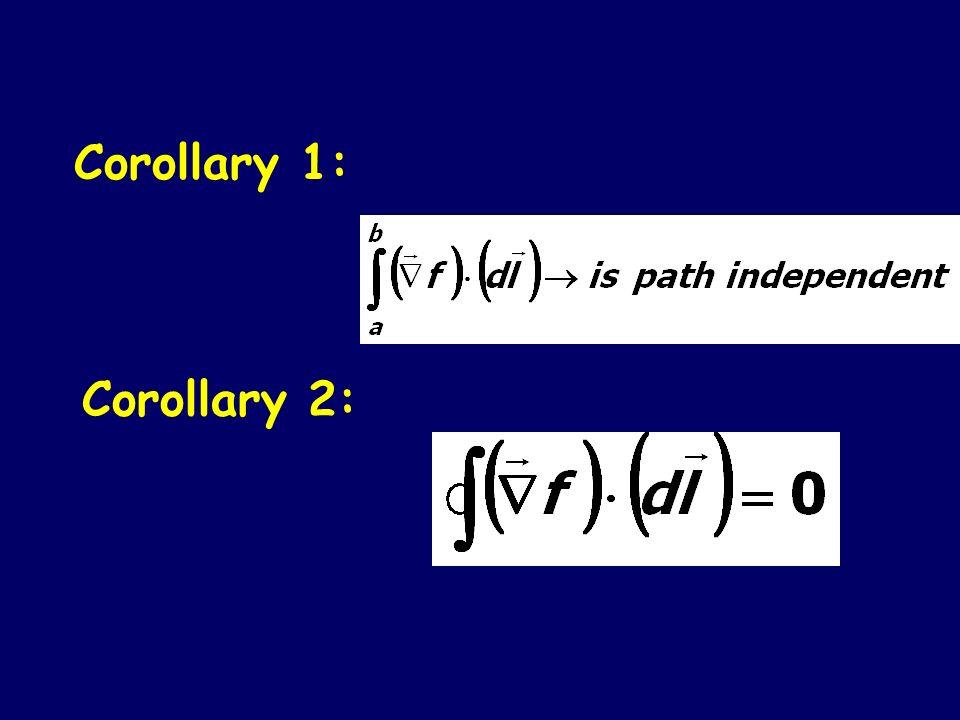 Corollary 1: Corollary 2: