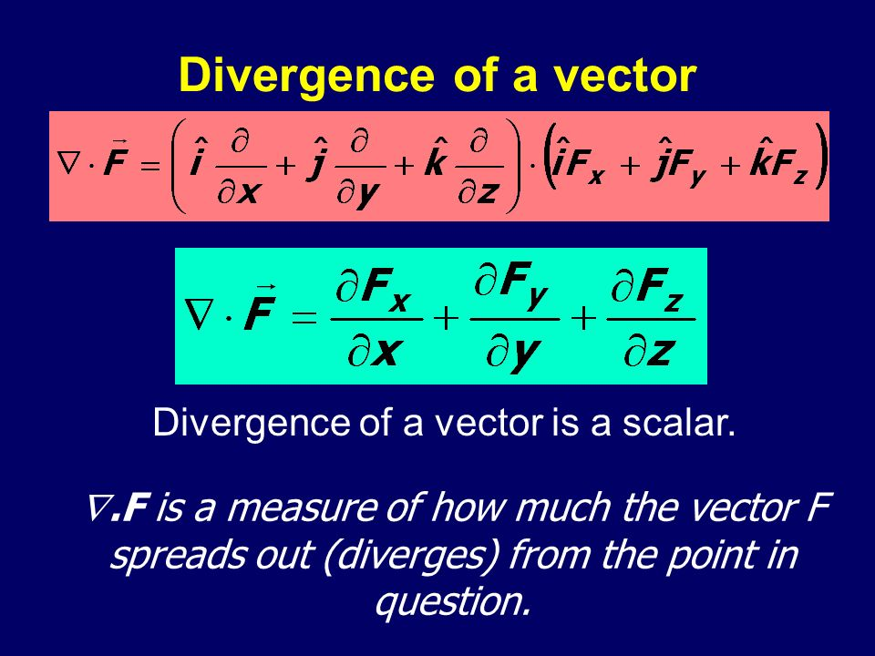 Divergence of a vector is a scalar.
