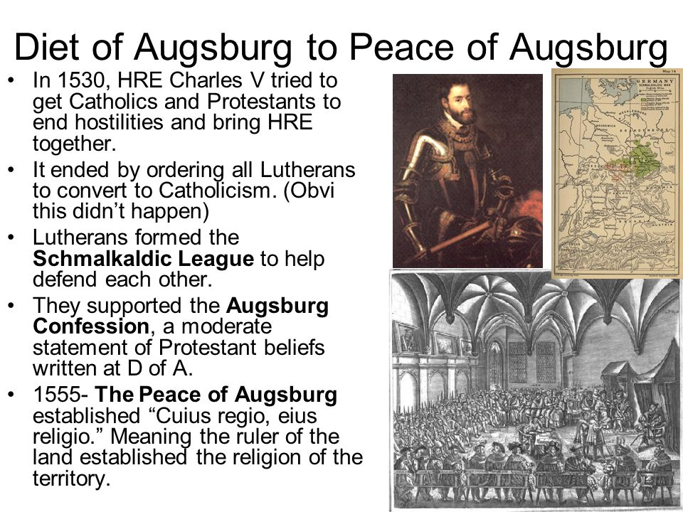 Diet of Augsburg to Peace of Augsburg