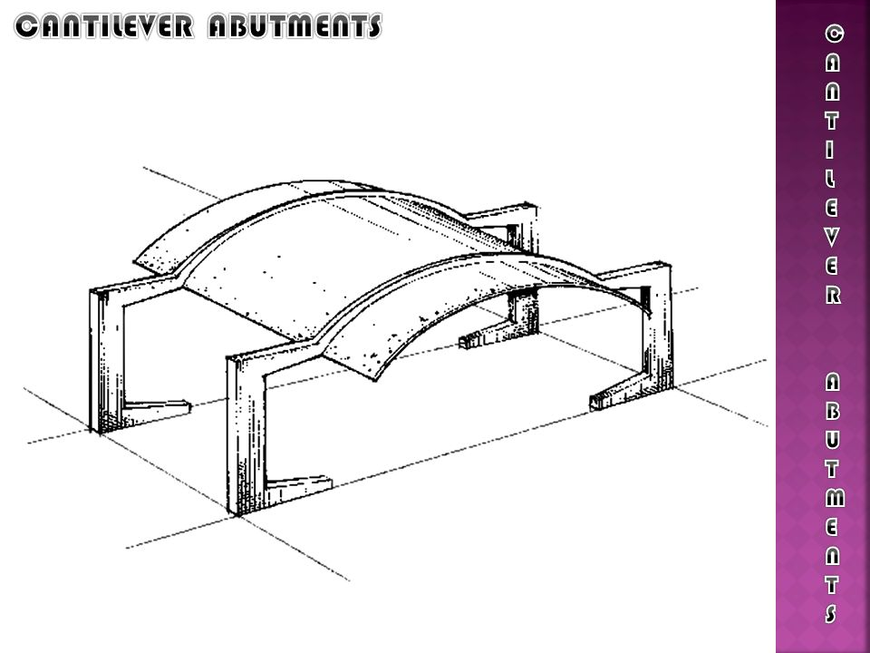 CANTILEVER ABUTMENTS CANTILEVER ABUTMENTS