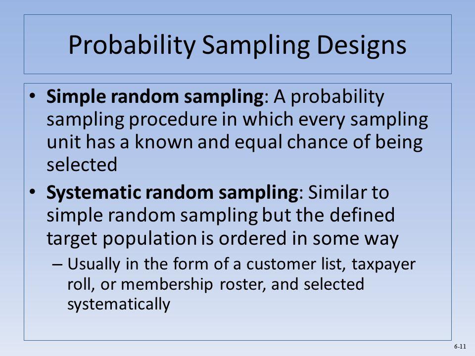 Probability Sampling Designs